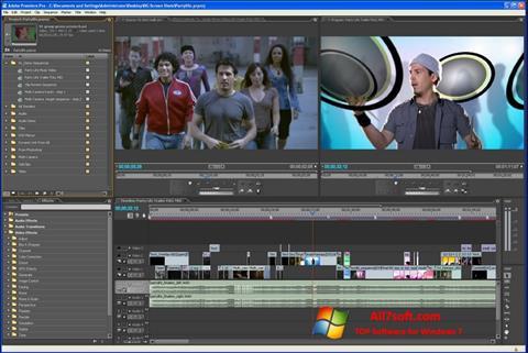 Στιγμιότυπο οθόνης Adobe Premiere Pro Windows 7