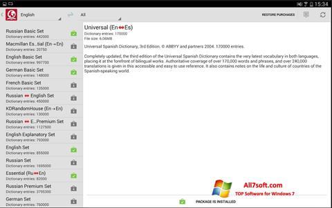 Στιγμιότυπο οθόνης ABBYY Lingvo Windows 7