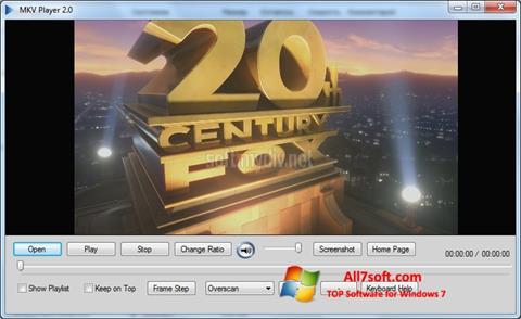 Στιγμιότυπο οθόνης MKV Player Windows 7