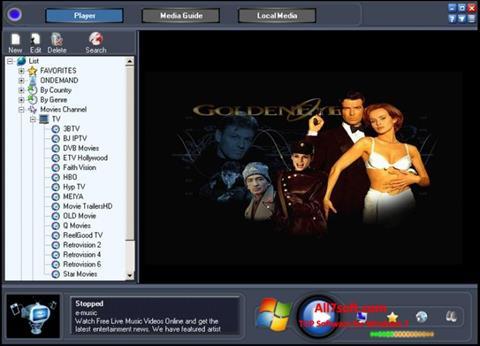 Στιγμιότυπο οθόνης Online TV Live Windows 7