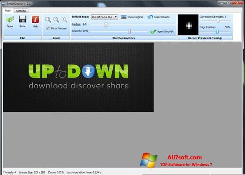Στιγμιότυπο οθόνης SmartDeblur Windows 7