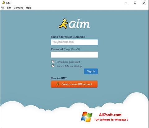 Στιγμιότυπο οθόνης AOL Instant Messenger Windows 7