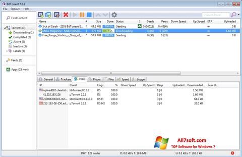 Στιγμιότυπο οθόνης BitTorrent Windows 7