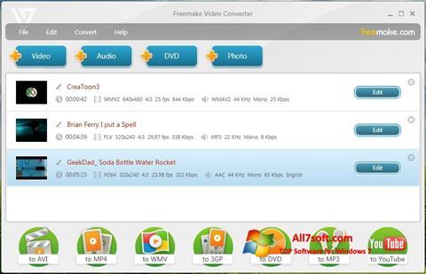 Στιγμιότυπο οθόνης Freemake Video Converter Windows 7