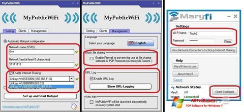 Στιγμιότυπο οθόνης MaryFi Windows 7