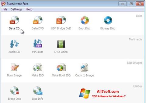 Στιγμιότυπο οθόνης BurnAware Free Windows 7