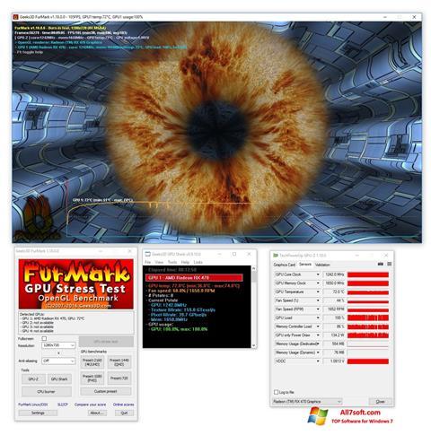 Στιγμιότυπο οθόνης FurMark Windows 7
