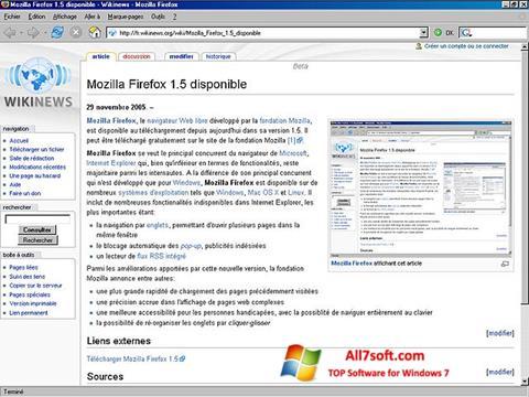Στιγμιότυπο οθόνης Mozilla Firefox Windows 7