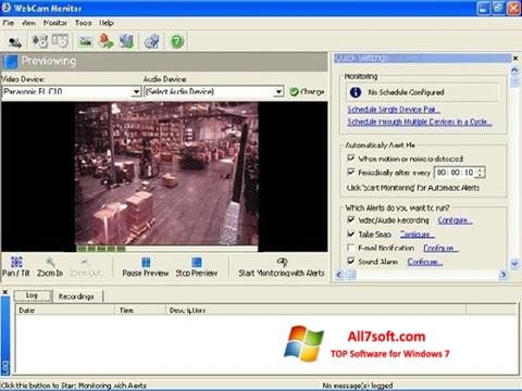 Στιγμιότυπο οθόνης WebCam Monitor Windows 7