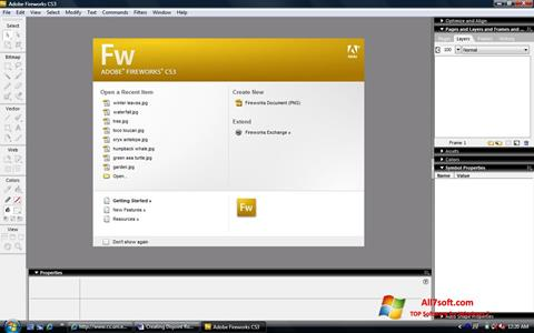 Στιγμιότυπο οθόνης Adobe Fireworks Windows 7