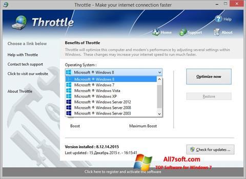 Στιγμιότυπο οθόνης Throttle Windows 7