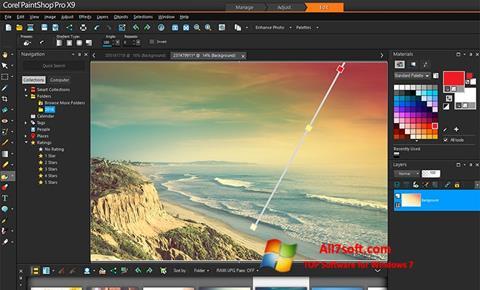 Στιγμιότυπο οθόνης PaintShop Pro Windows 7