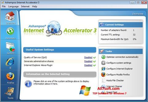 Στιγμιότυπο οθόνης Ashampoo Internet Accelerator Windows 7