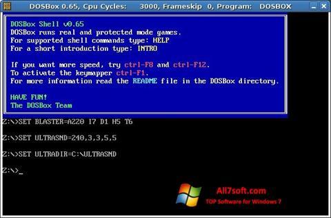Στιγμιότυπο οθόνης DOSBox Windows 7