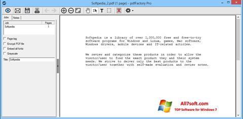 Στιγμιότυπο οθόνης pdfFactory Pro Windows 7