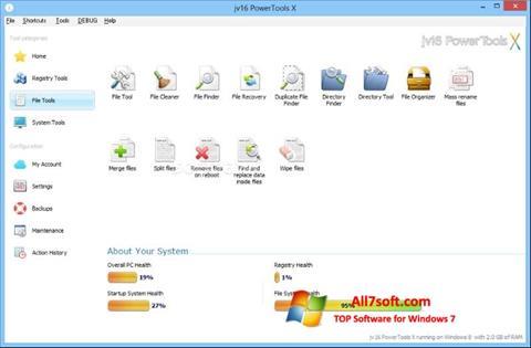 Στιγμιότυπο οθόνης jv16 PowerTools Windows 7