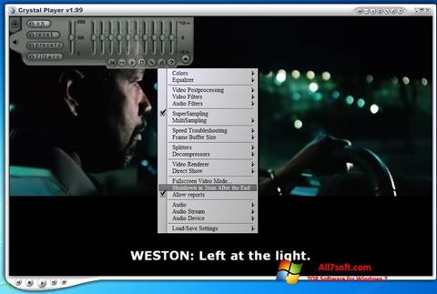 Στιγμιότυπο οθόνης Crystal Player Windows 7