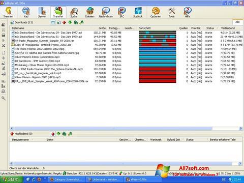 Στιγμιότυπο οθόνης eMule Windows 7