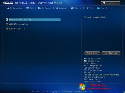 Στιγμιότυπο οθόνης ASUS Update Windows 7