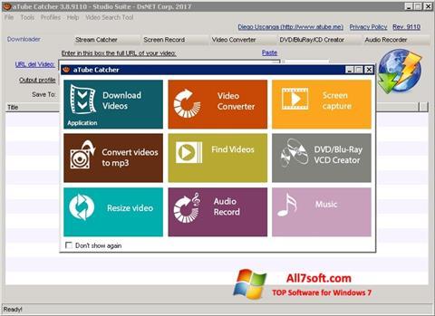 Στιγμιότυπο οθόνης aTube Catcher Windows 7