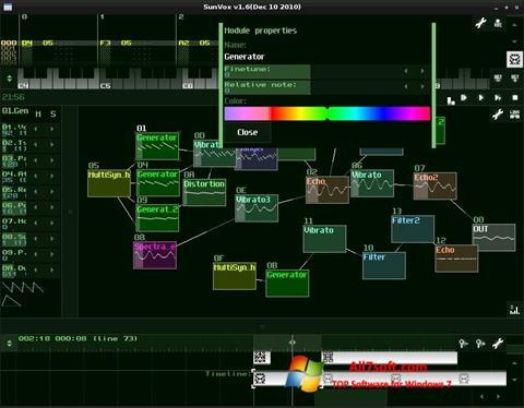 Στιγμιότυπο οθόνης SunVox Windows 7