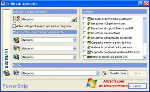 Στιγμιότυπο οθόνης PowerStrip Windows 7