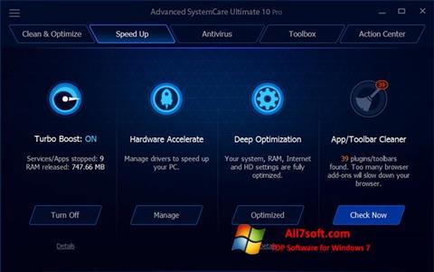 Στιγμιότυπο οθόνης Advanced SystemCare Ultimate Windows 7