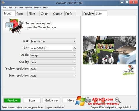 Στιγμιότυπο οθόνης VueScan Windows 7