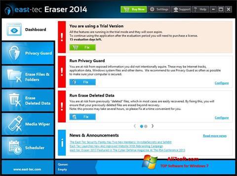 Στιγμιότυπο οθόνης East Tec Eraser Windows 7