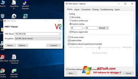 Στιγμιότυπο οθόνης VNC Windows 7