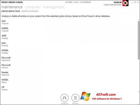 Στιγμιότυπο οθόνης Driver Fusion Windows 7
