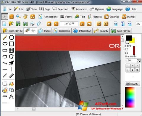 Στιγμιότυπο οθόνης PDF Reader Windows 7