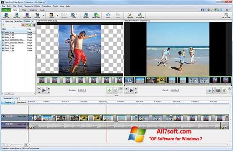 Στιγμιότυπο οθόνης VideoPad Video Editor Windows 7