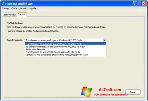 Στιγμιότυπο οθόνης WinToFlash Windows 7