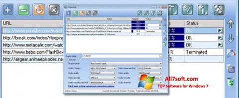 Στιγμιότυπο οθόνης VideoGet Windows 7