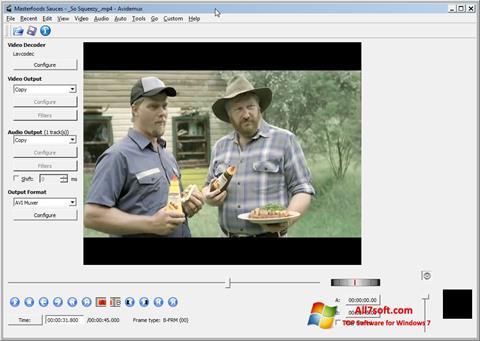 Στιγμιότυπο οθόνης Avidemux Windows 7