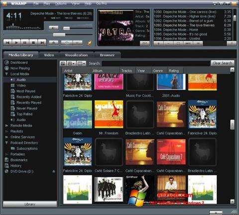 Στιγμιότυπο οθόνης Winamp Windows 7