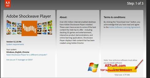 Στιγμιότυπο οθόνης Adobe Shockwave Player Windows 7