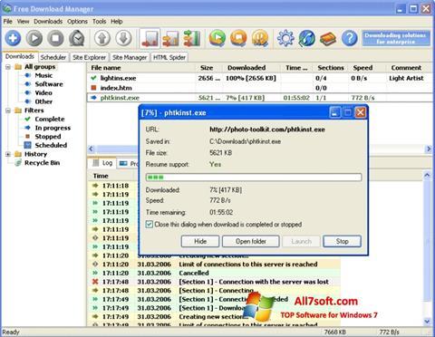 Στιγμιότυπο οθόνης Download Master Windows 7