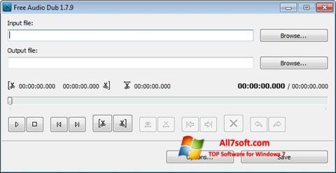 Στιγμιότυπο οθόνης Free Audio Dub Windows 7