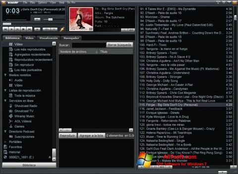 Στιγμιότυπο οθόνης Winamp Lite Windows 7