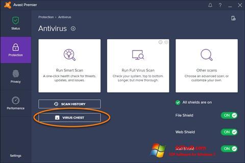 Στιγμιότυπο οθόνης Avast Windows 7