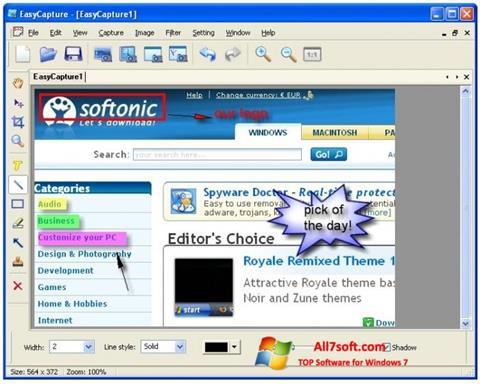 Στιγμιότυπο οθόνης EasyCapture Windows 7
