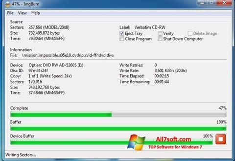 Στιγμιότυπο οθόνης ImgBurn Windows 7