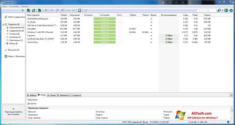 Στιγμιότυπο οθόνης uTorrent Windows 7