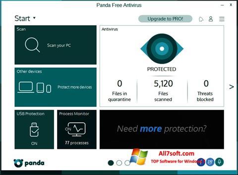 Στιγμιότυπο οθόνης Panda Windows 7