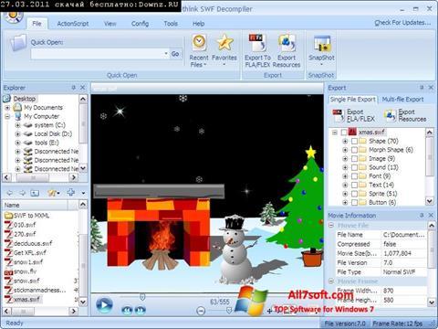 Στιγμιότυπο οθόνης Sothink SWF Decompiler Windows 7
