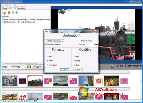 Στιγμιότυπο οθόνης Bolide Slideshow Creator Windows 7