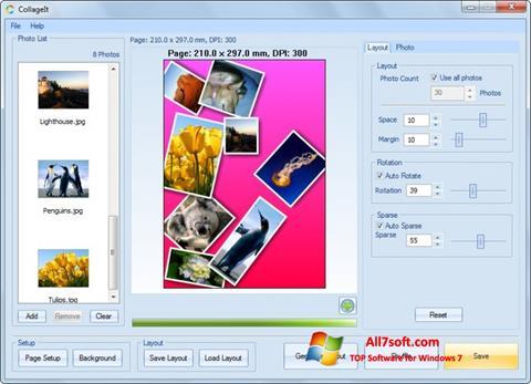 Στιγμιότυπο οθόνης CollageIt Windows 7
