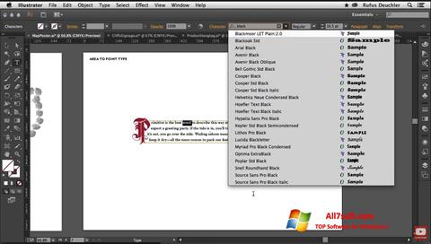 Στιγμιότυπο οθόνης Adobe Illustrator Windows 7